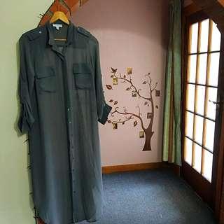 maxi dress buttons