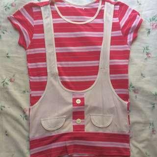 Pink Stripes Cute Shirt