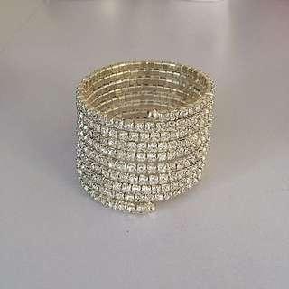 Silver Diamanté Bracelet