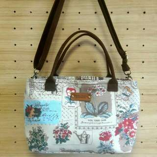 Double Zipper Sling Tote