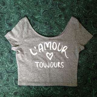 ‼️⬇️H&M L'amour Toujours Crop Top