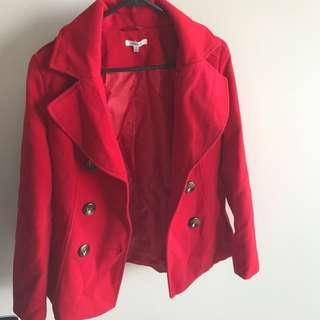 Vibrant Red Coat