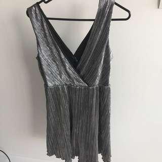 Forever 21 Funky Metallic Dress