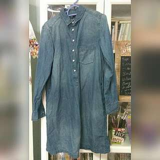 UNIQLO DENIM LONG SLEEVED DRESS