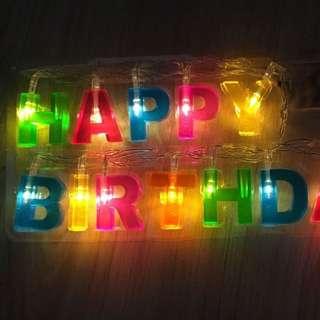生日快樂字母LED彩色串燈 現貨兩套