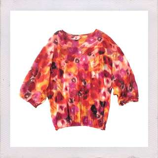 floral top/cover-up