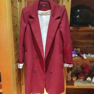 全新 時尚羊毛西裝外套