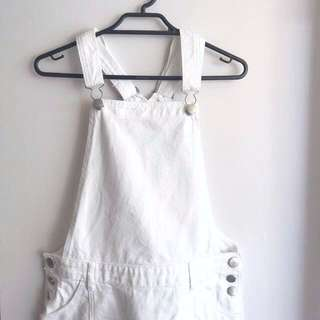 Cotton On White Denim Overalls