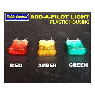 Cable Control Add-a-Pilot Light Plastic Housing (Power ON Indicator)
