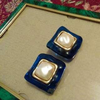 古董夾式耳環