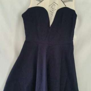 navy blue dollhouse dress