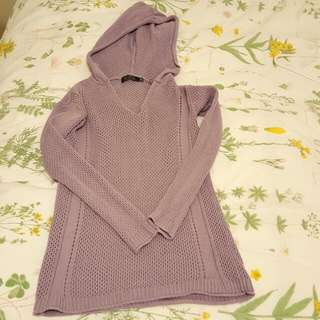 Knit Top With Hoodie