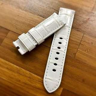 Original Panerai White Croc Strap 24/22mm