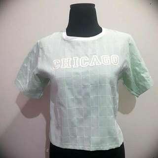 Chicago Top Hijau Tosca