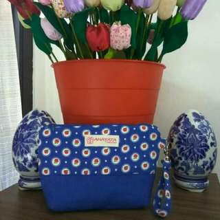 Pouch Motif Blue Polkadot Pocket