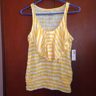 Old Navy Yellow Striped Top