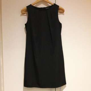 Classic Black Satin Shift Dress