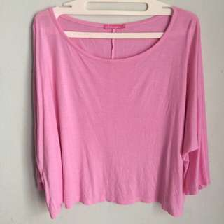 Pink Sleeves Top