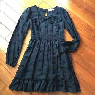 百貨專櫃Angel 黑色小魔女洋裝/黑色小禮服/蘿莉風格/cosplay