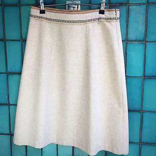 Woollen Knee Length Skirt