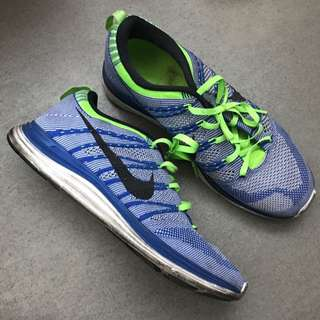 NIKE FLYKNIT ONE BLUE LIME GREEN US 8.5