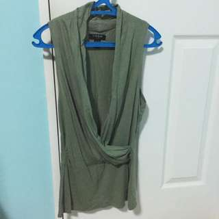 overrun nine west sleeveless top