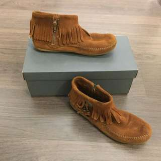 Minnetonka Suede Ankle Moccasins
