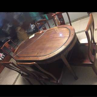 Antique Dinning Table And Chair