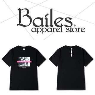 貝里斯Bailes【KS593】日韓版 / 男女款 日韓早春新品個性街頭風格印花搭配休閒棉質圓領短袖T恤