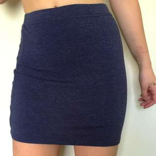 XS Navy blue mini skirt