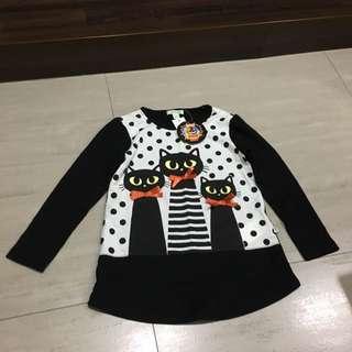 Bossini Long Sleeves Shirt - Cat Design