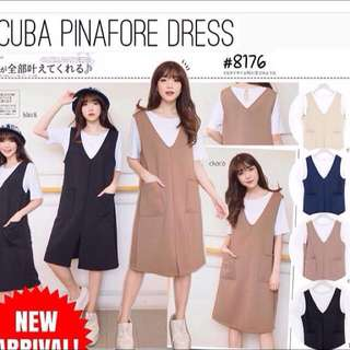 Scuba Pinafore Dress