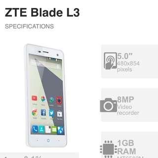 Zte Blade L3 Brand New 3g