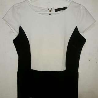 Black & White Peplum Top THE LIMITED