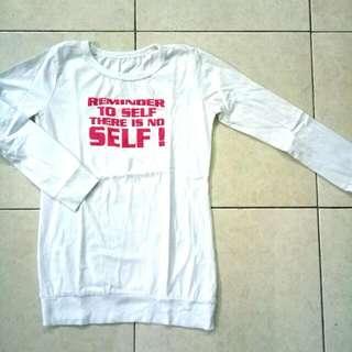 Kaos Panjang Putih