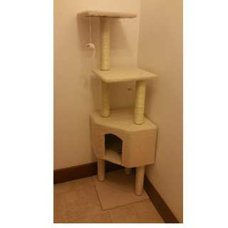 Cat Tree Condo with Scratcher