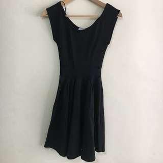 Short Sleeves Black Dress Cotton-on