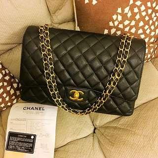 ***Sold***Chanel Maxi Caviar GHW