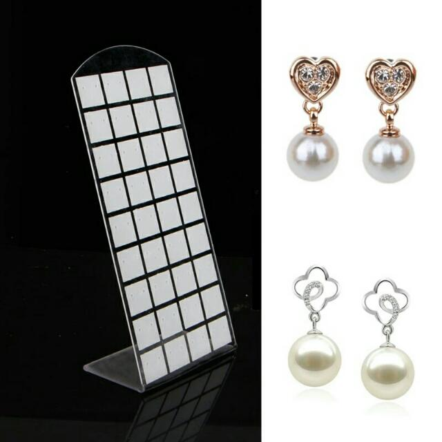 72 Holes Earring Jewelry ShowCase Plastic Display Rack Stand ... 6c0bd40c46