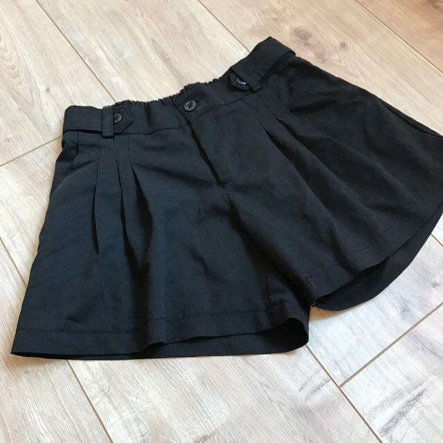 韓 打褶造型褲裙