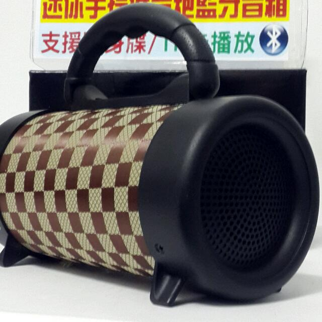 🆕🔞 Large Bluetooth speaker subwoofer 高音質 無破音 物超所值 原裝進口2017 限量款格紋棕 戶外旅遊新亮點。 Original import 2017 limited edition grid pattern brown outdoor tourism new bright spot.