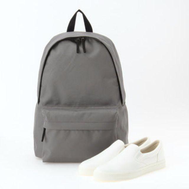 全新正品 MUJI無印良品 聚酯纖維附側面口袋 後背包 限量灰色 附提袋
