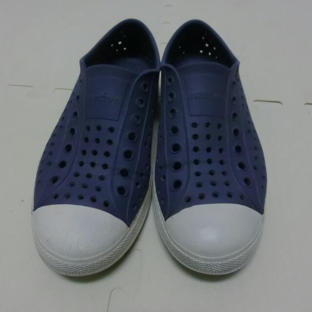 (二手) native 洞洞鞋 深藍奶油頭 #五百元好女鞋