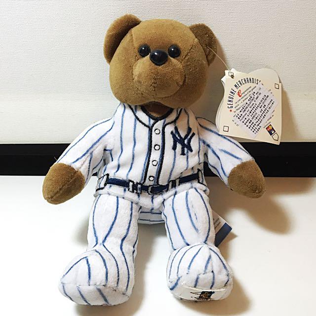 美國洋基隊 NY絨毛填充小熊 棒球 禮物 收藏 吊牌未拆
