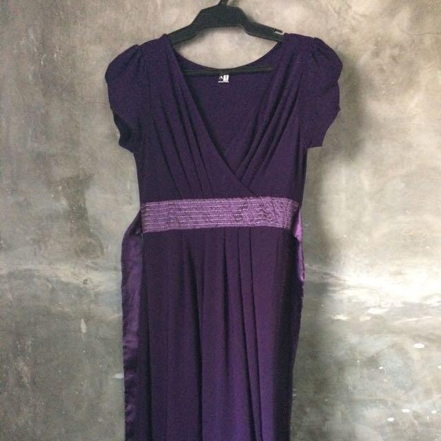 A1 Purple Jersey Dress