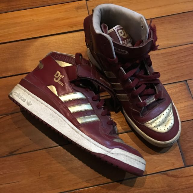 ADIDAS DEF JAM ANNIVERSARY EDITION MAROON/GOLD SIZE US9.5