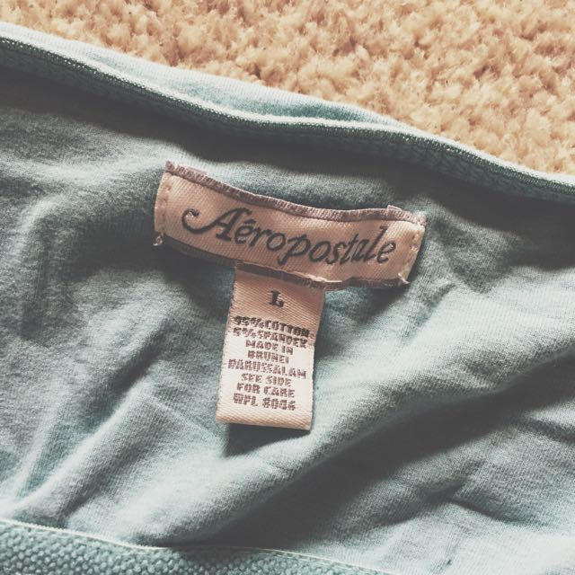 Aeropostale Basic muted Blue Singlet