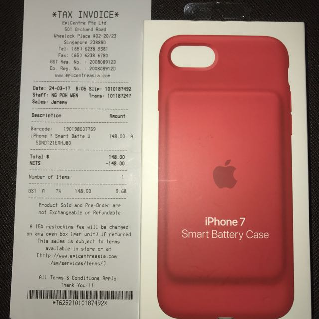 another chance 40468 57095 APPLE SMART BATTERY CASE PRODUCT RED