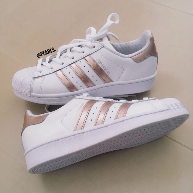 pending!! authentic adidas superstar rose gold, Women's Fashion, Shoes on Carousell