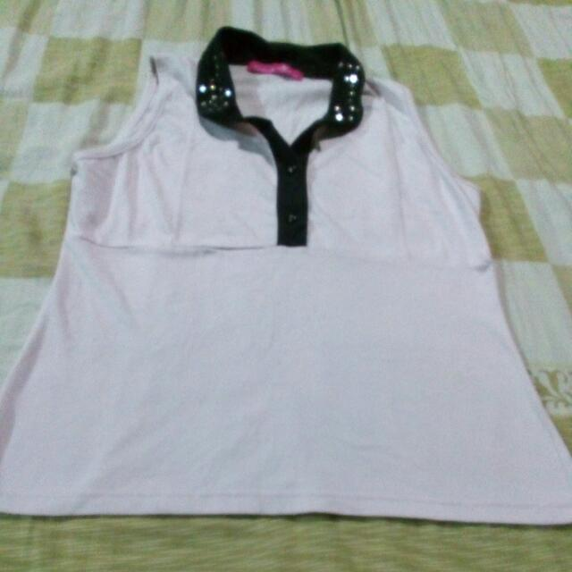 Baby Pink Sleeveless Top